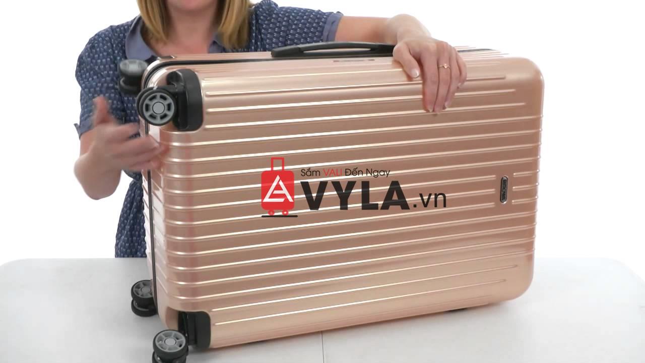 Chiếc vali kéo nhựa romowa màu hồng cực nhẹ