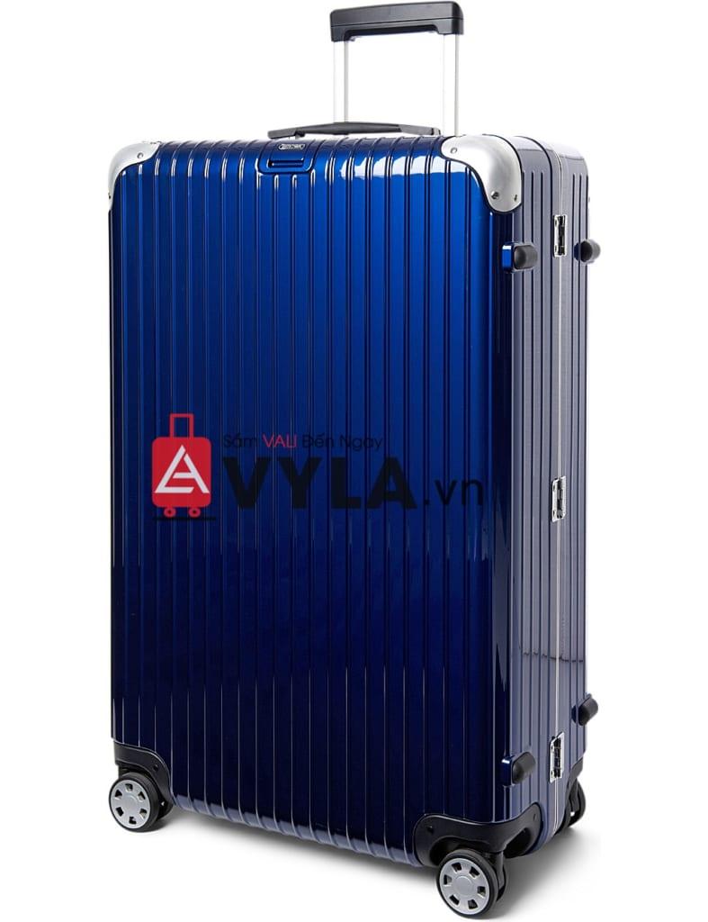 Shop vali kéo nhựa trơn rimowa màu xanh