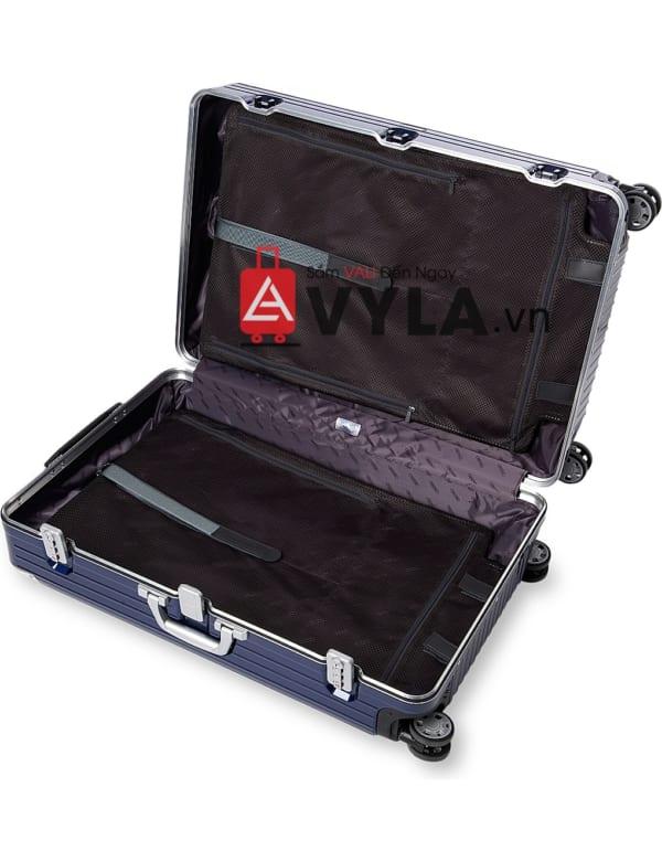 Shop vali kéo nhựa trơn rimowa màu xanh đậm
