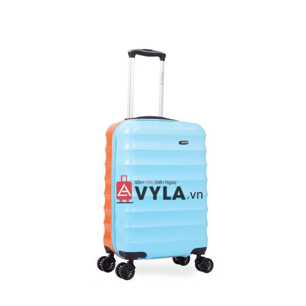Vali kéo nhựa trơn xanh cam đẹp giá rẻ