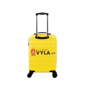 Vali kéo nhựa trơn xanh vàng