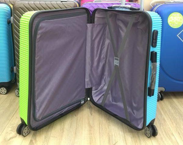 Vải bọc bên trong vali xanh cam
