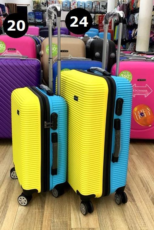 Vali 2 màu vàng xanh