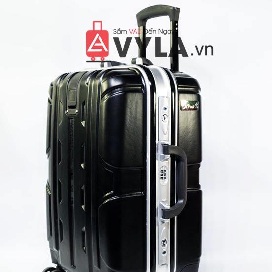 Vali khung nhôm khóa sập màu đen mẫu 1 giá rẻ