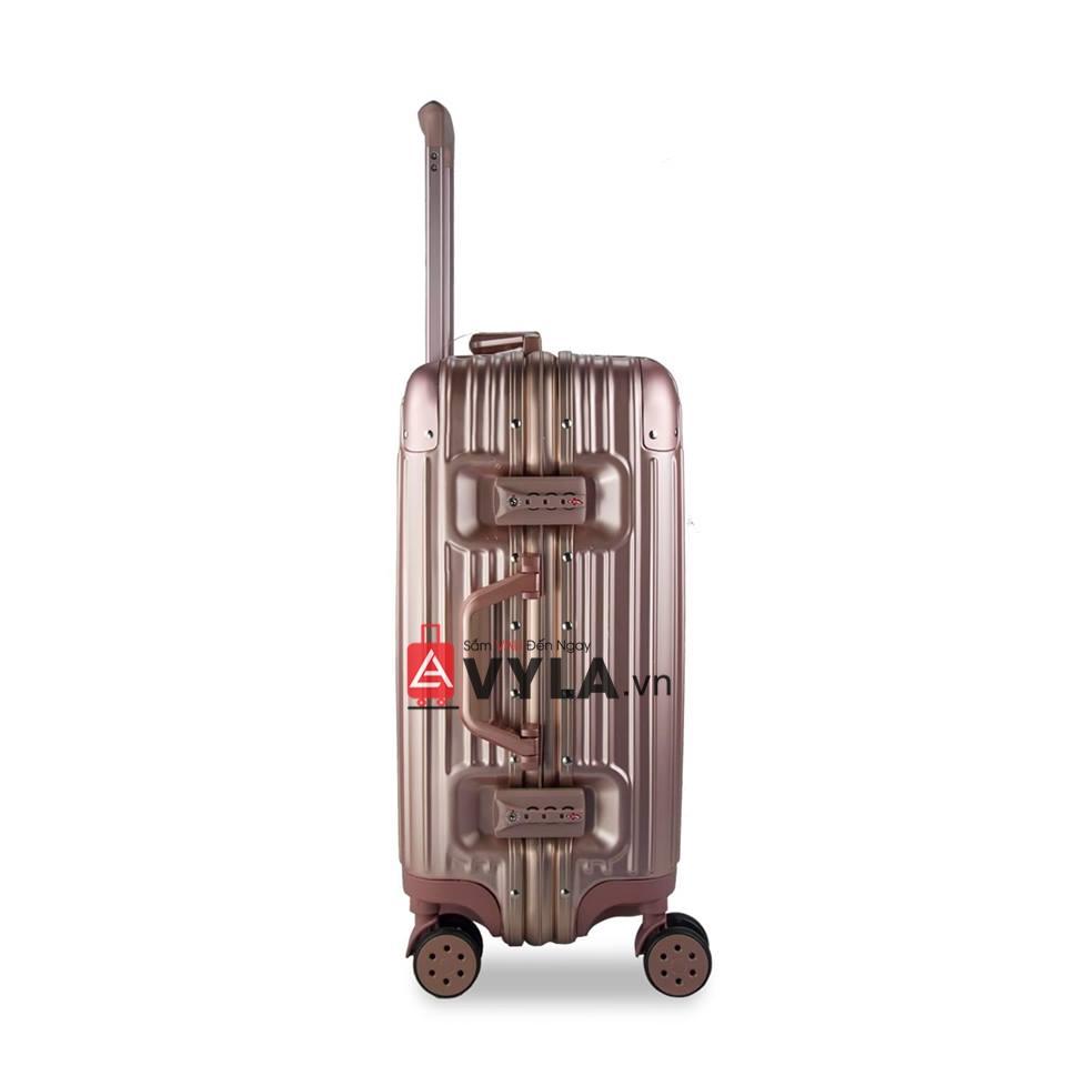 Vali khung nhôm khóa sập màu tím mẫu 1 giá rẻ