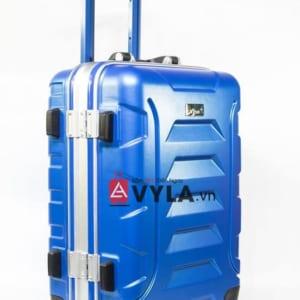 Vali khung nhôm khóa sập màu xanh dương mẫu 1 đẹp