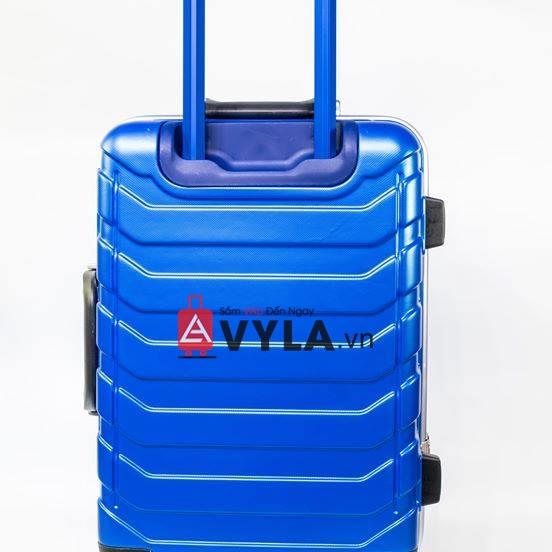 Vali khung nhôm khóa sập màu xanh dương mẫu 1