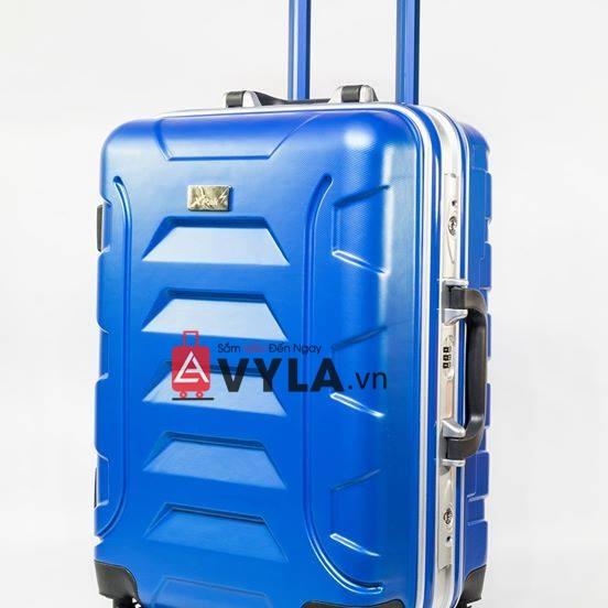 Vali khung nhôm khóa sập màu xanh dương mẫu 1 tphcm