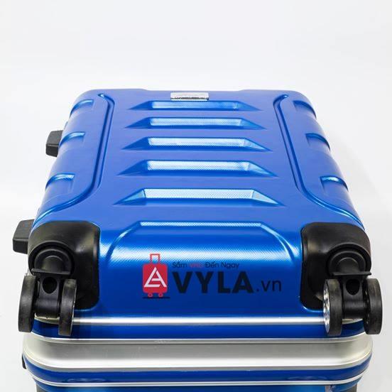 Vali khung nhôm khóa sập màu xanh dương mẫu 1 hcm
