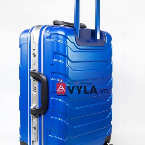Vali khung nhôm khóa sập màu xanh dương mẫu 1 giá tốt